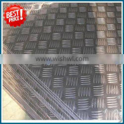 JINAN factory 5052 5083 5754 H32 H34 H36 H111 H114 roll of aluminum tread plate price