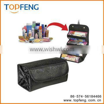 roll n go Cosmetic bag/Travel cosmetic bag /4 COMPARTMENT case