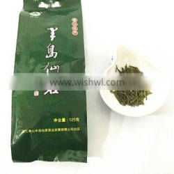 healthy food plastic green tea bag