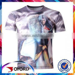 100% polyester quick dry sports sublimation t shirt