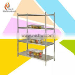 2015 best sale European style separated assembled commercial kitchen storage rack shelf for hotel restaurant