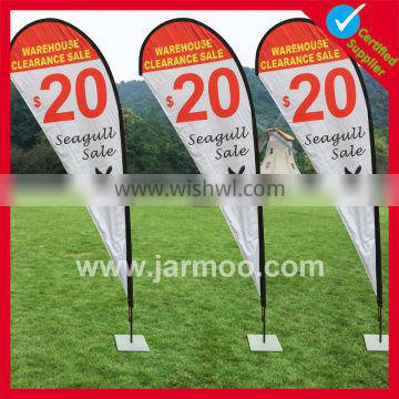 Outdoor full color printing teardrop advertising banner
