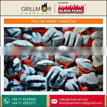 Pillow Shaped Coconut Shell Charcoal with Low MOQ