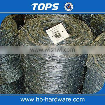 Barbed wire coil