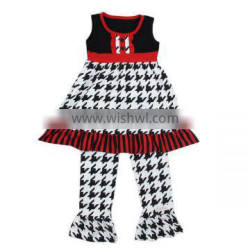 Kaiyo baby clothes factory new outfit pictures of latest gowns designs sleeveless ruffle dress and pants OEM service clothing