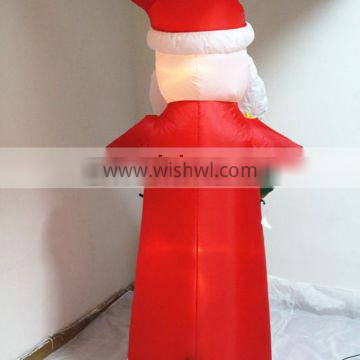 HI indoor small surfing inflatable Santa Claus with light