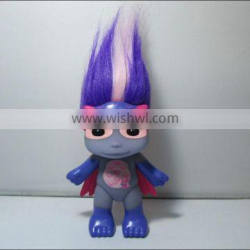 custom kids toy plastic toys, synthetic hair for dolls, custom TV & Movie character plastic synthetic dolls toys for kids