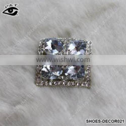 Shiny Square Shaped Crystal Rhinestone Ornament Accessories with metal clip for high heel shoe wedding shoes