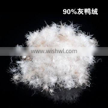JIS-1903 Grade A 90/10 grey duck down big down cluster high filling power, cleaness, odorless, whole sales