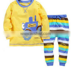 high quality cotton material hot sale boys t-shirt and long pants sets