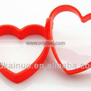 Kitchen tool heart shaped silicone cooking fried egg mold