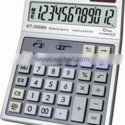 12 digits electronic calculator with Big LCD display KT-2000N