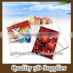 Customized plastic 3D lenticular postcard for Christmas promotional gift