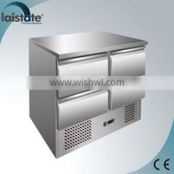 4 Drawers Stainless Steel Refrigerated Salad Workstation