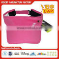 woven pink sun visor cap with zipper on front
