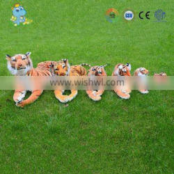 High quality tiger design custom realike different size stuffed tiger toy