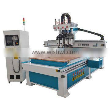 Pneumatic cnc router with 4 spindles pneumatic cylinder cnc cutting engraving drilling machine multi spindle cnc router machine
