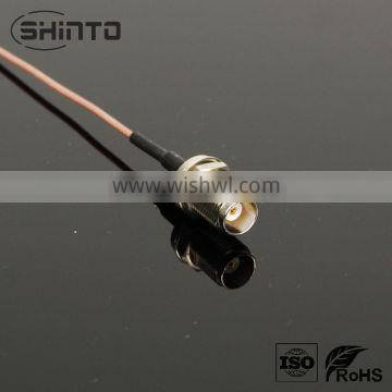 TNC straight jack to MHF for rg178 cable