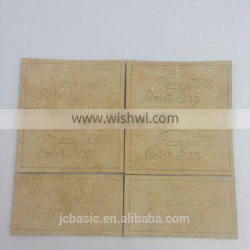 OEM custom fashion clothing leather jeans main labels