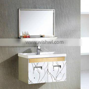 Wall hanging American style stainless modern bathroom basin cabinet