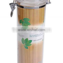 Swing-Top Food Storage Plastic Jar Canister in Clear Plastic