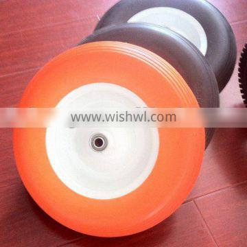 Manufactory different size and colors PU wheel