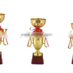Glory Sports Metal Trophy with Gold Plated for Champion