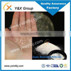 YXFLOC Super absorbent polymer water absorbing crystals soil conditioner