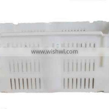 Plastic mesh crates for fruit and vegetables