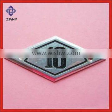 Flexible Metal Badge to Fit on Bicycle Tube