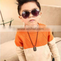 2015 hot sale knitted cool cashmere pullover sweater for kid