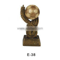 china manufacturer high quality sports resin awards resin world cup soccer trophies