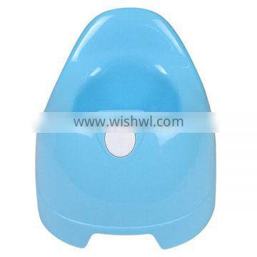 High quality two colors plastic baby potty toilet with brush