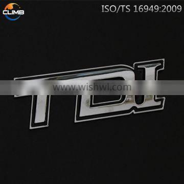China chrome polished metal letters for car emblem as gifts promotion for automobiles motorcycles