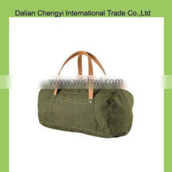 Lightweight solid color polyester sports duffel bags with pu handle