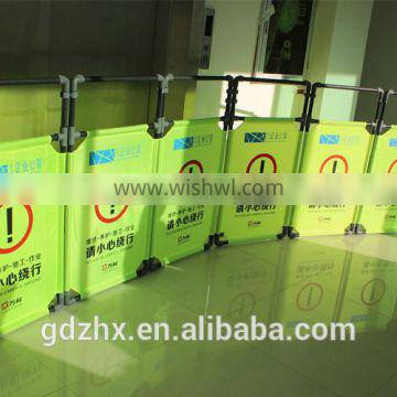 folding traffic barrier/retractable barrier tape for safety