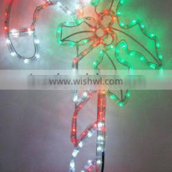 2016 candy cane with a leaf lecorative light led rope light
