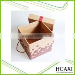 Christmas Gift Paper Cardboard Box with Handle