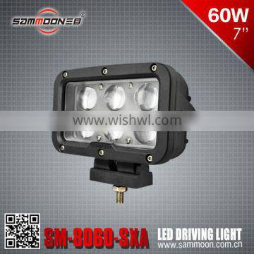New design Dual Row Super bright Rectangle 7 inch 60w CREE LED driving light, led work light_SM-8060-SXA