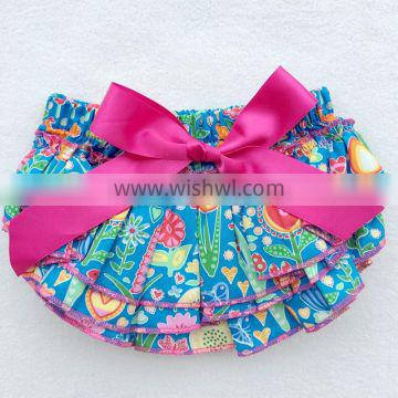 Newborn Baby Summer Dress Floral Baby Ruffle Bubble Romper For Baby Girls
