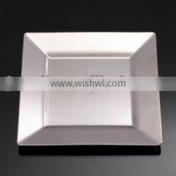 square silver coated plate,disposable plastic plate