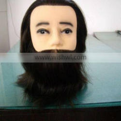 china wholesale new product 100% human hair male styling mannequin head for practice