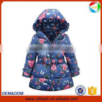 2015 New design casual winter child clothes for girls wear cold weather down jacket wholesale winter coat kids(ulik-J021)