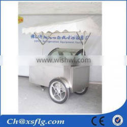 ice cream pushcart for food, gelato ice cream cart mall for sale