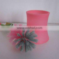 Plastic small & convenient Toilet brush holder with different colour
