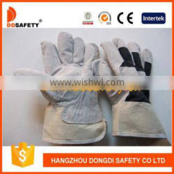DDSAFETY 2017 With 5Years Experience Luvas Cow Split Leather Glove Safety Equipment