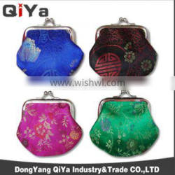 Promotional Trendy Classical Women Mini Clutch Embroidery Lipstick Coin Purse Metal Purses Frame Wallets Gift Souvenir
