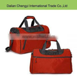 Factory price solid color polyester travel sports tote bag