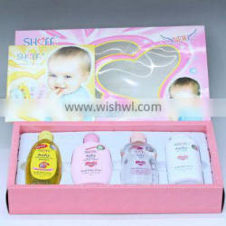 4 Pieces Baby Care Series for shampoo, lotion, oil, powder
