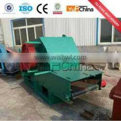 Industrial wood chipper for biomass fuel processing equipment
